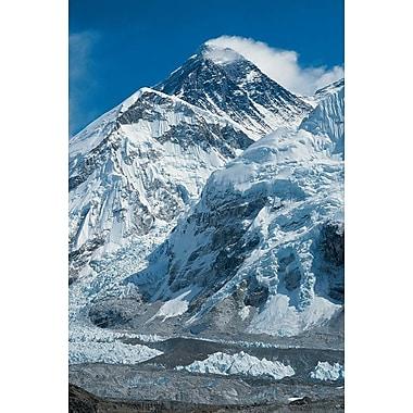 Le mont Everest, toile tendue, 24 x 36 po