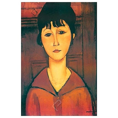 Portrait of Girl by Modigliani, Canvas, 24