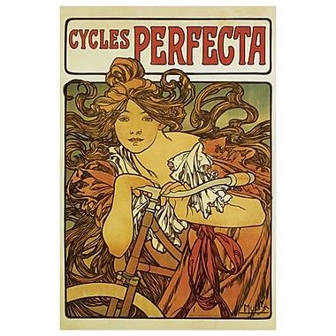« Cycles Perfecta » par Mucha, toile, 24 x 36 po