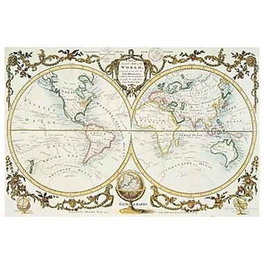 Carte du monde par Millar, toile, 24 x 36 po