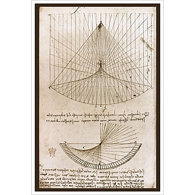 Curvatures by da Vinci, Canvas, 24