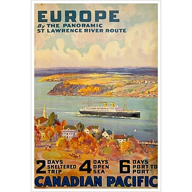 « CP - Panoramic St Lawrence », toile tendue, 24 x 36 po