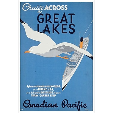 « CP - Cruise the Great Lakes » I, toile tendue, 24 x 36 po