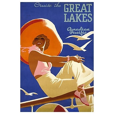 « CP - Cruise the Great Lakes » II, toile tendue, 24 x 36 po
