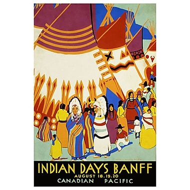 CP Indian Days Banff I, Stretched Canvas, 24