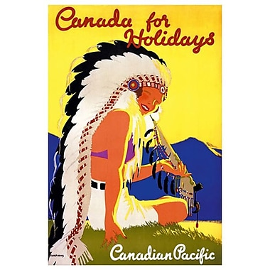 CP Canada for Holidays, Stretched Canvas, 24