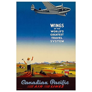 Canadian Pacific – Wings of the World's Greatest Travel System, toile tendue, 24 x 36 po