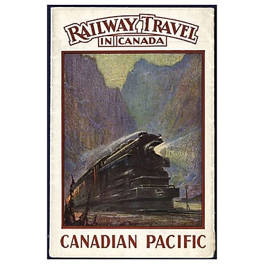 CP Railway Travel in Canada, Stretched Canvas, 24