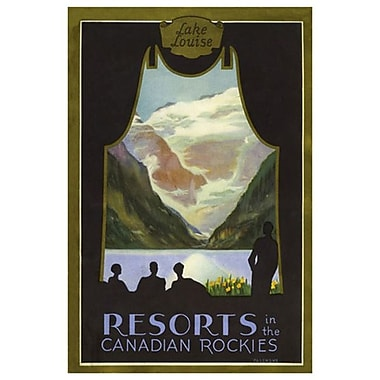 CP Resorts Canadian Rockies, Stretched Canvas, 24