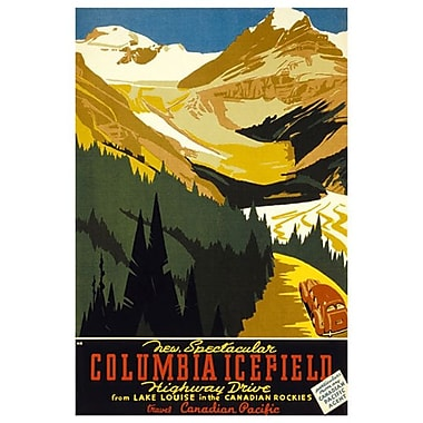 Canadian Pacific – New Spectacular Columbia Icefield Highway Drive, toile tendue, 24 x 36 po