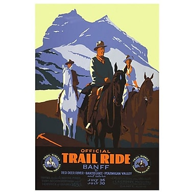 Canadian Pacific – Official Trail Ride Banff, toile tendue, 24 x 36 po