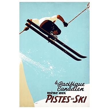 Canadian Pacific – Le Pacifique Canadien mène aux pistes de ski, toile tendue, 24 x 36 po
