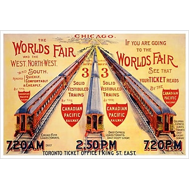 Canadian Pacific – Chicago World's Fair, toile tendue, 24 x 36 po