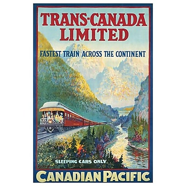 Canadian Pacific – Trans-Canada Limited, toile tendue, 24 x 36 po