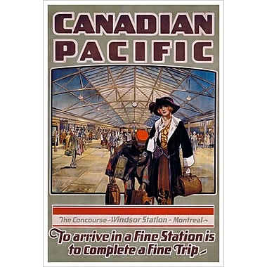 Canadian Pacific – The Concourse Windsor Station - Montreal, toile tendue, 24 x 36 po