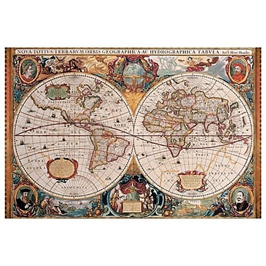 Map - Geographica, Stretched Canvas, 24