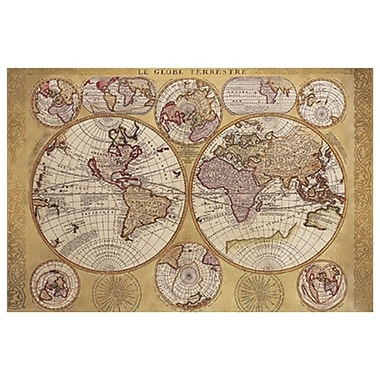 Map - Globe Terrestre, Stretched Canvas, 24