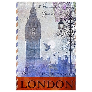 Big Ben Tower London by Vest, Canvas, 24