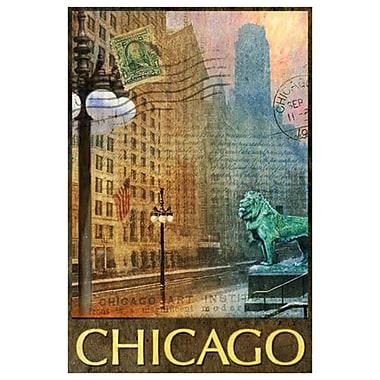 Lion de Chicago de Vest, toile, 24 x 36 po