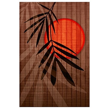 Bamboo and Red Sun 1 by Zalewski, Canvas, 24