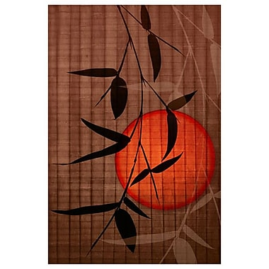 Bamboo and Red Sun 2 by Zalewski, Canvas, 24