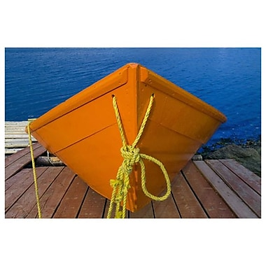 Orange Boat by Grandmaison, Canvas, 24