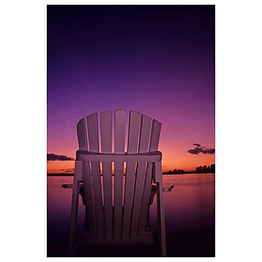 Chaise au crépuscule par Grandmaison, toile de 24 x 36 po