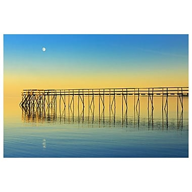 Pier Moon Sunset by Grandmaison, 24