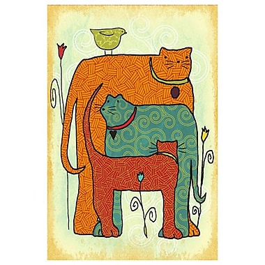 Cats and Tulips by Keenan, Canvas, 24