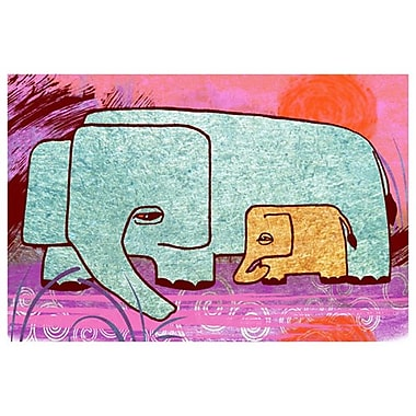 Elephants 3 by Keenan, Canvas, 24