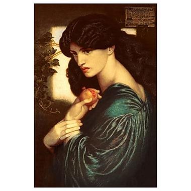 Proserpine (1874) de Rossetti, toile de 24 x 36 po