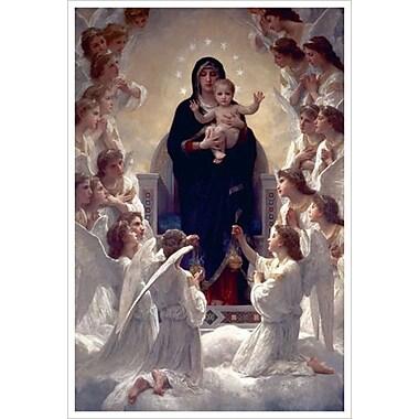 Une vierge et des anges de Bouguereau, toile de 24 x 36 po