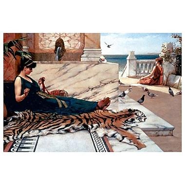 La peau du tigre par Godward, toile, 24 x 36 po