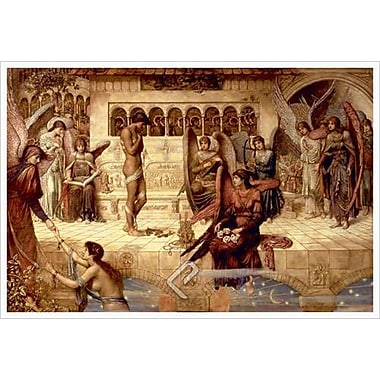 Les remparts de la maison de Dieu par Strudwick, 24 x 36 po