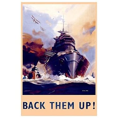 Back them up! La capture du sous-marin, toile, 24 x 36 po