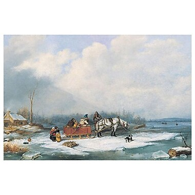 Winter Landscape by Krieghoff, Canvas, 24