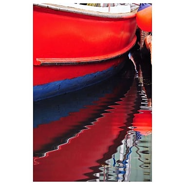 Red Boat by Stoneman, Canvas, 24