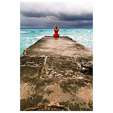 Girl on Wharf 3 by Stoneman, Canvas, 24