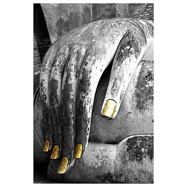 Main de Bouddha par Stoneman, toile, 24 x 36 po