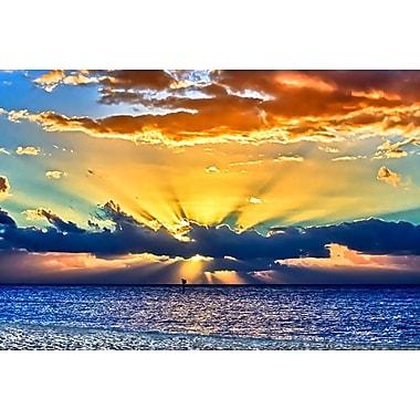 Sun Rays Sunrise by Vaughan, Canvas, 24