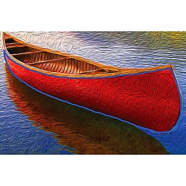 Canoe on Thomson Pond, Stretched Canvas, 24