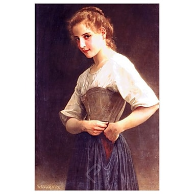 Young Girl Dressing by Bouguereau, Canvas, 24
