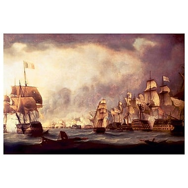 Sailboat Warships-Naval Battle, Stretched Canvas, 24