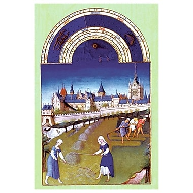 Riches Heures Duc Berry- Juin, Stretched Canvas, 24
