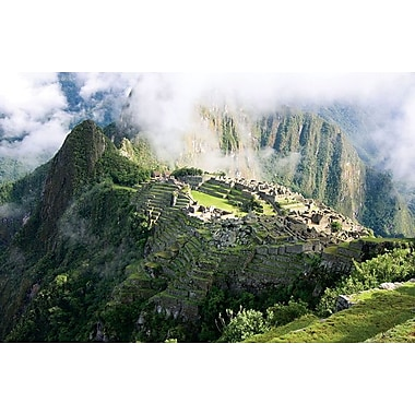 Machu Picchu in the Clouds, Stretched Canvas, 24