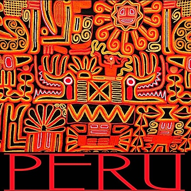 Peru - Inca Design Pattern, Stretched Canvas, 24