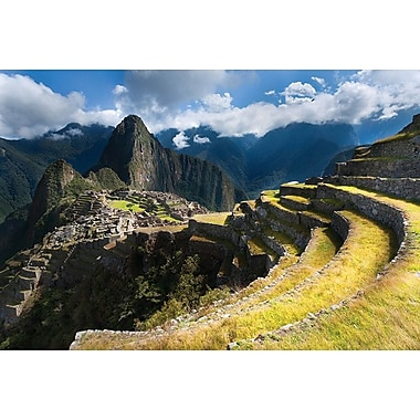 Machu Picchu Panoramic View, Stretched Canvas, 24