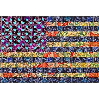 L'Amérique en courtepointe par SM Design, toile, 24 x 36 po