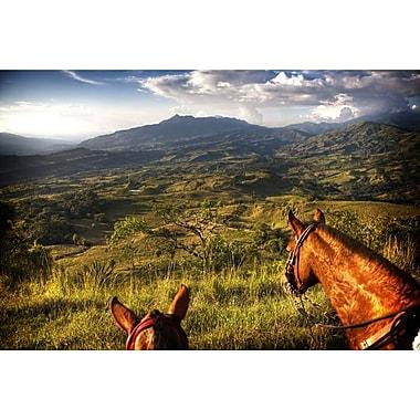 Les chevaux et la montagne de Nalbandian de, toile, 24 x 36 po