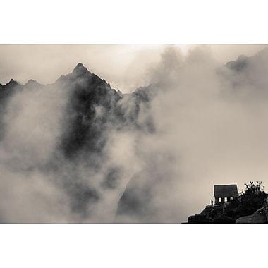 Maisonnette dans la brume montagneuse de Nalbandian, toile, 24 x 36 po